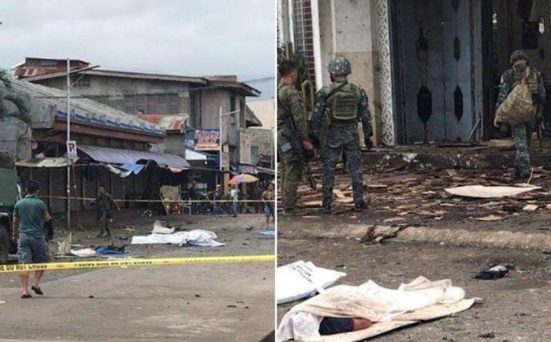 Filipinas: al menos 27 muertos tras explotar dos bombas frente una catedral