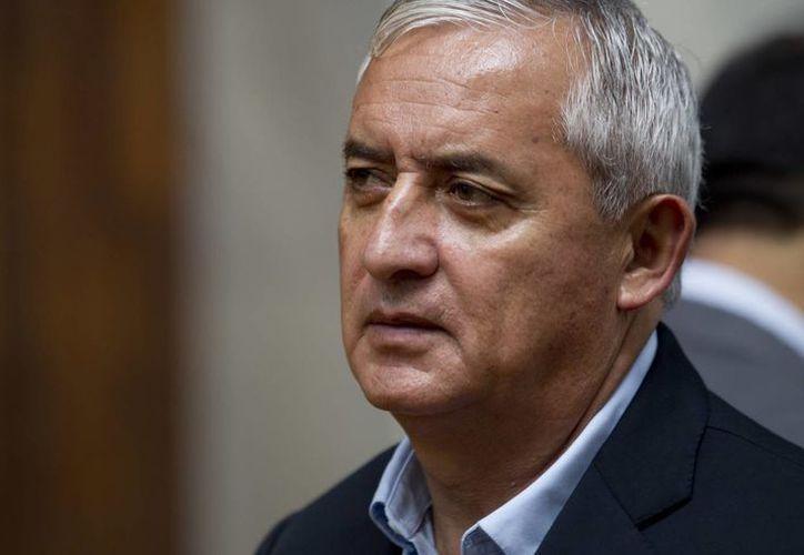 Otto Pérez Molina se encuentra preso por la trama de corrupción denominada 'la línea'. (AP)