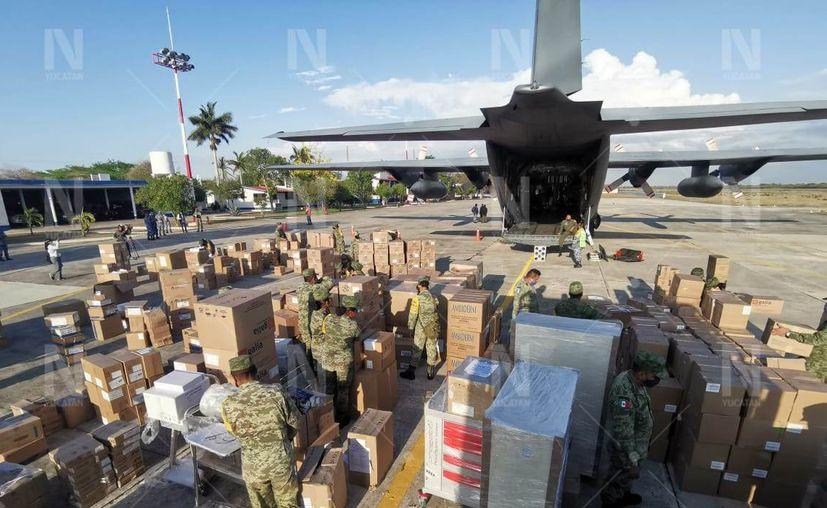 El avión arribó a las 15:00 horas de este martes. (Novedades Yucatán)