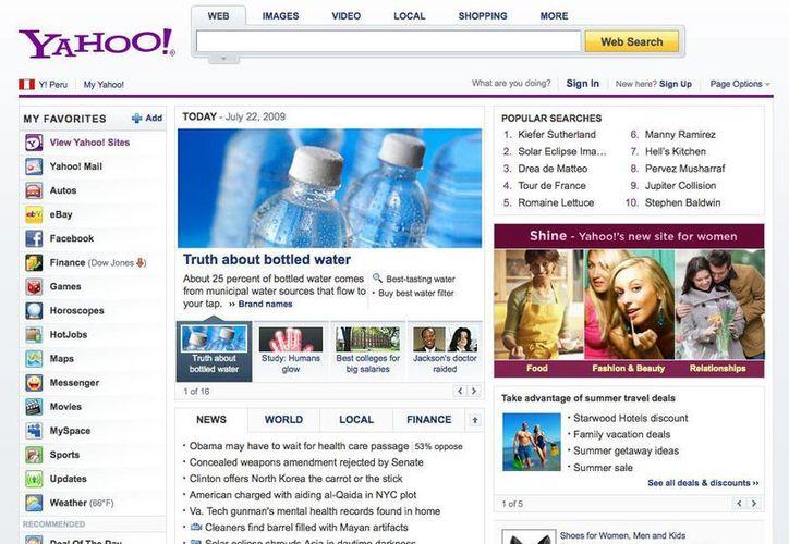 Yahoo es uno de los administradores de correo más utilizados del mundo. (Agencias)