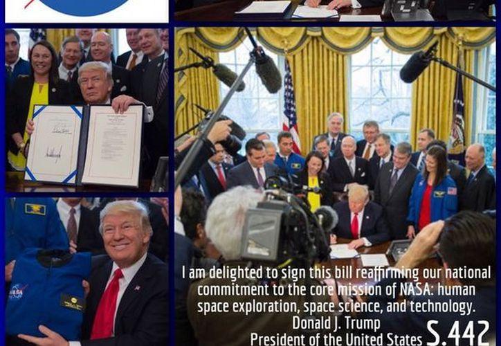 Donald Trump aumenta el presupuesto a la NASA por primera vez en siete años. (Twitter)