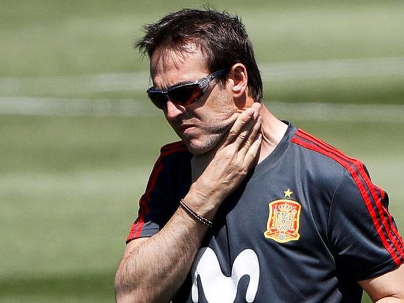 Julen Lopetegui fue despedido hoy como entrenador de la selección española . (Foto: EFE)