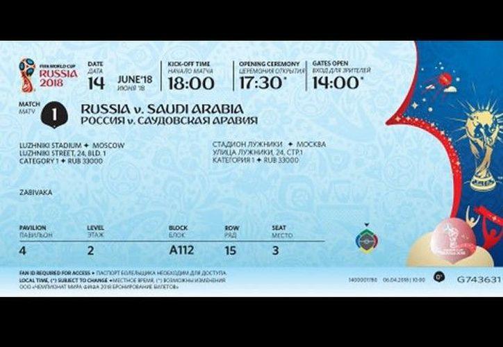 Las entradas también incluyen clave de seguridad con un código de barras. (FIFA)