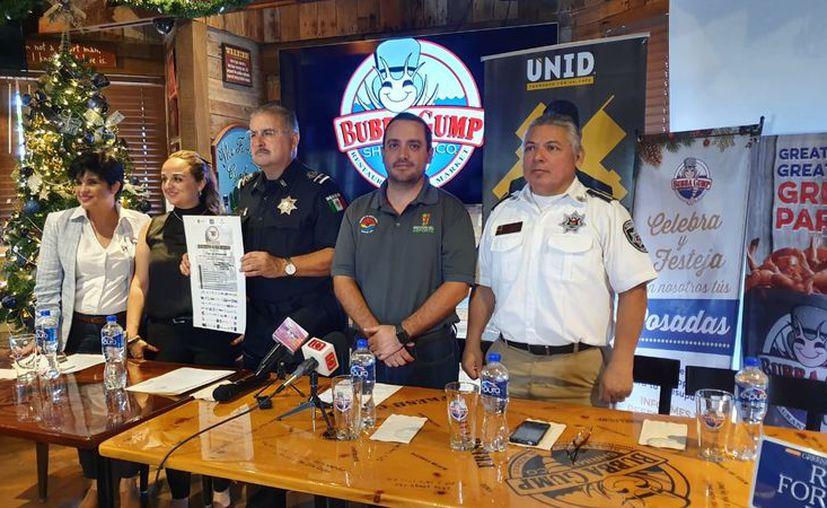 Las autoridades dieron los detalles del evento deportivo con causa. (Raúl Caballero/SIPSE)