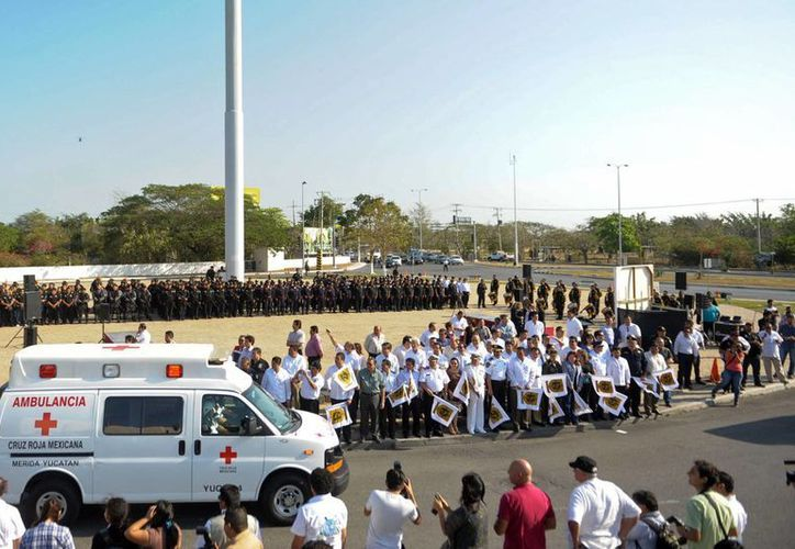 Más de mil policías velarán por la seguridad de los yucatecos y turistas durante las vacaciones de Semana Santa. (Cortesía)
