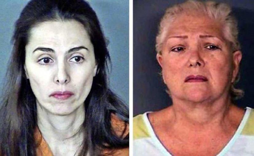 Lucía Janette Garza Sánchez y Juana María Sánchez Quintanilla están presas acusadas de secuestro y delincuencia organizada. (Internet)