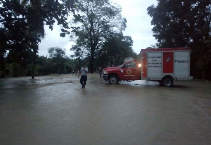 Al menos 51 comunidades de once municipios de Tabasco resultaron afectadas por las lluvias. (René Alberto López).
