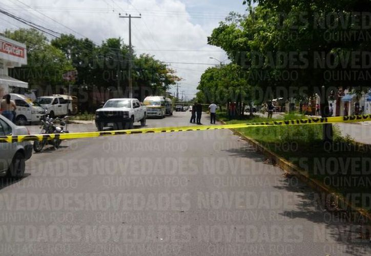 La persona lesionada fue trasladada al Hospital General. (Eric Galindo/ SIPSE)