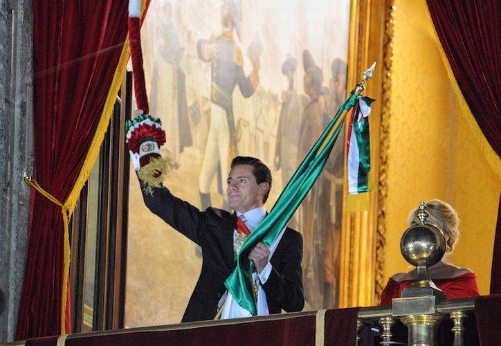 El presidente dio la nota durante la ceremonia de 'El Grito'. (Internet)