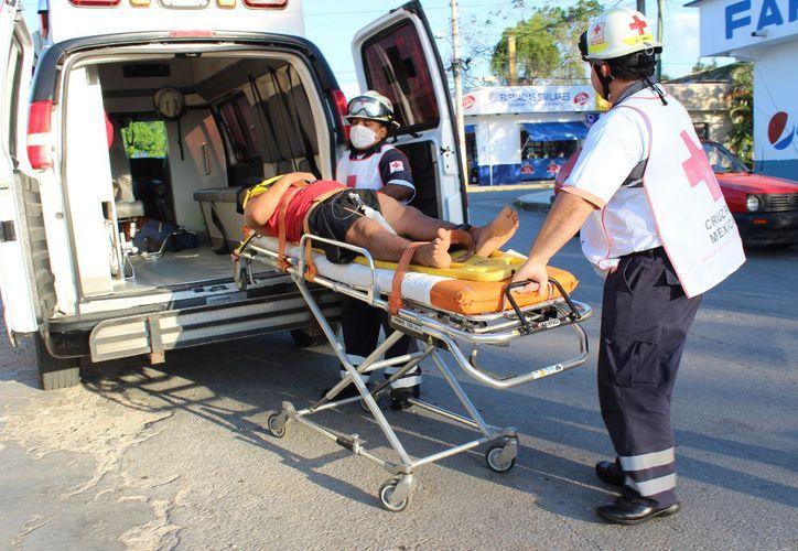 La persona quedó inconsciente, por lo que ingresó al área de Urgencias. (Foto: Redacción/SIPSE)