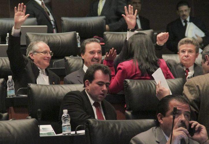 Senadores aprueban en lo general la reforma político-electoral. (Notimex)