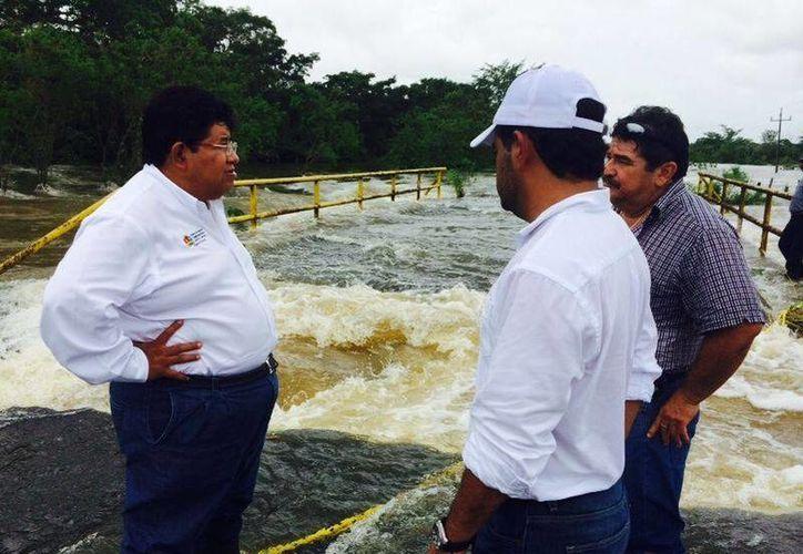 La Sintra realizó inspecciones en los tramos carreteros afectados por las lluvias.  (Redacción/SIPSE)