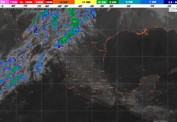 Durante el día de hoy se espera un cielo parcialmente cubierto en Playa del Carmen. (Conagua)