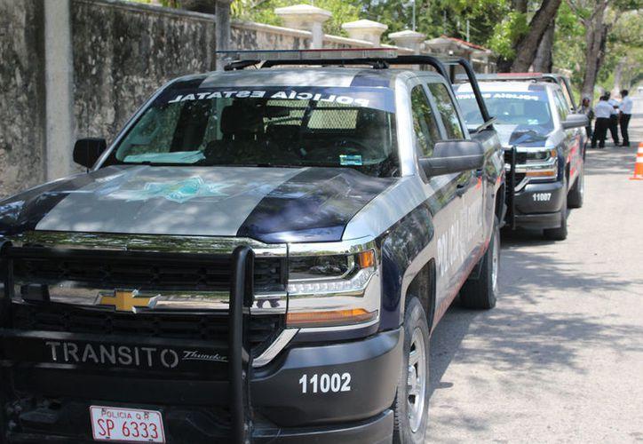La policía municipal afirmó que se coordina con Seguridad Pública estatal para reducir los índices delictivos. (Joel Zamora/SIPSE)