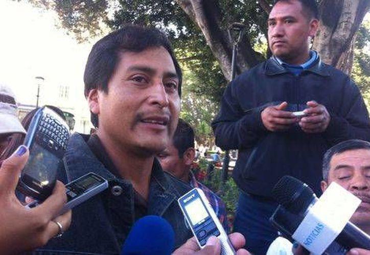 Hugo López Padilla representante de la asamblea comunitaria de San Pedro Mártir: el pueblo solicitó a los dos gremios que respeten la decisión de los habitantes. (Milenio)