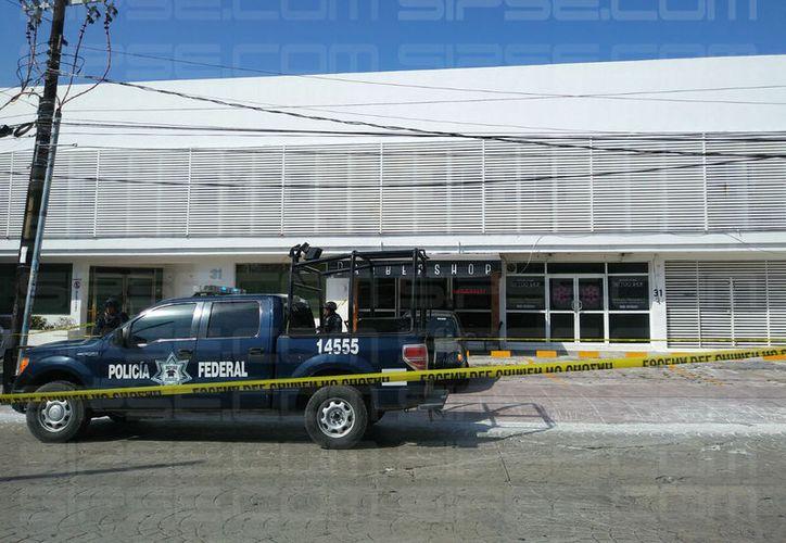 La barbería donde fue atacado el sujeto, está ubicada en la avenida Cobá con Yaxchilán. (Foto: Luis Hernández)