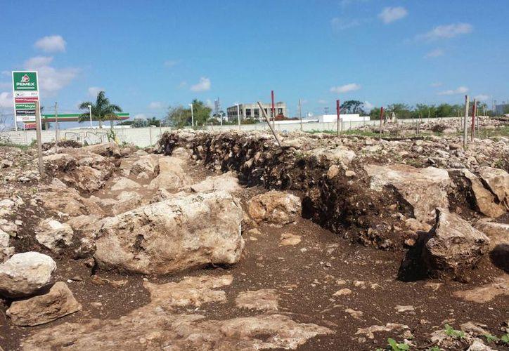 Imagen del terreno en donde se encontraron los vestigios mayas en el oriente de Mérida. (Candelario Robles/SIPSE)
