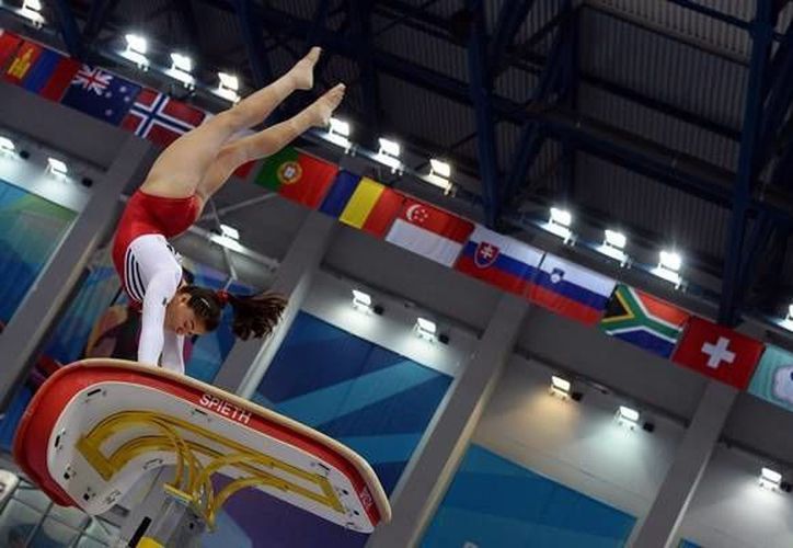 Alexa Moreno cerró en el salto de caballo su participación en el Mundial de Gimnasia de Nanjing. (mediotiempo.com/Foto de archivo)