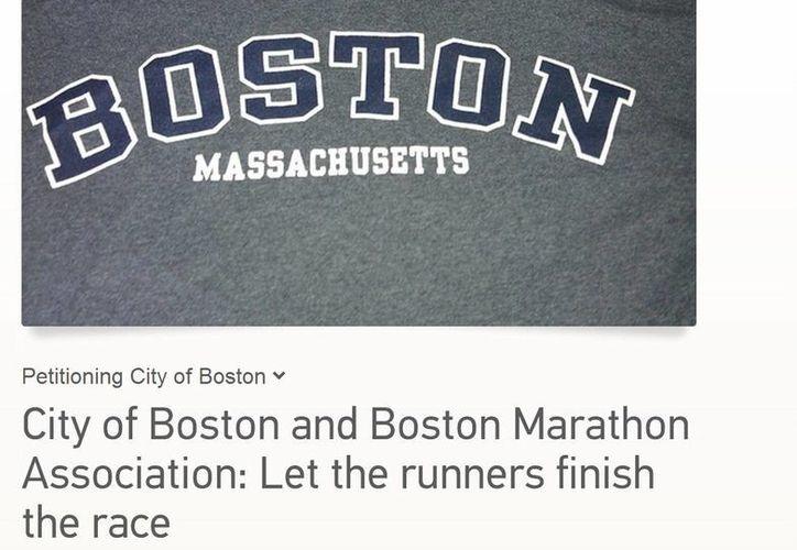 Los organizadores del Maratón de Boston han recibido decenas de solicitudes similares por correos electrónicos y redes sociales. (Change.org)