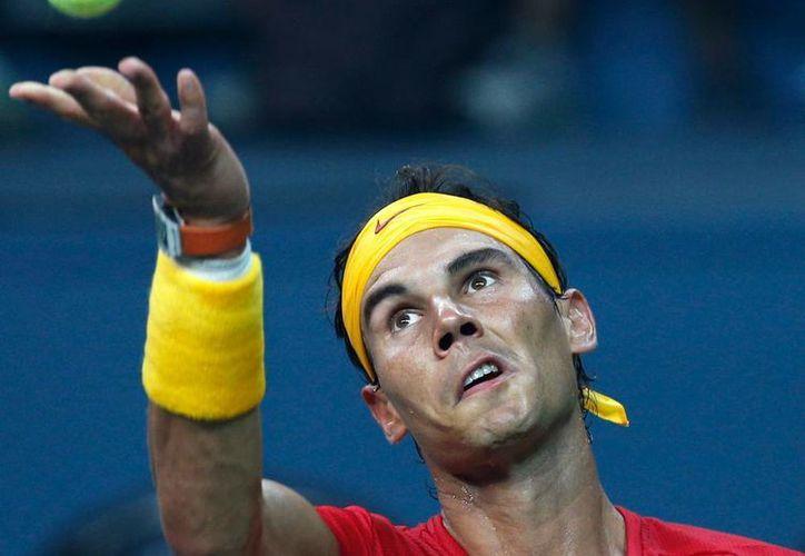 Rafael Nadal vendrá a México a disputar el abierto mexicano. Fue campeón de la justa en 2005 y 2013. (Archivo/AP)