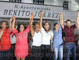 Mara Lezama celebra el triunfo de AMLO