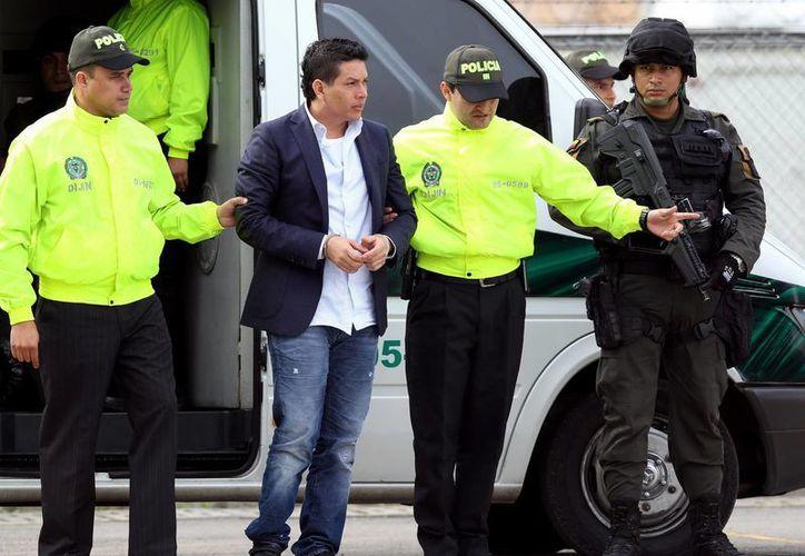 Camilo Torres Martínez, alias Fritanga, antes de ser extraditado a los Estados Unidos por solicitud de una corte de la Florida. (EFE)