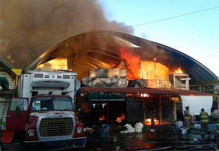 El incendio en la Central de Abasto de la Ciudad de México dejó sólo pérdidas materiales. (excelsior.com.mx)