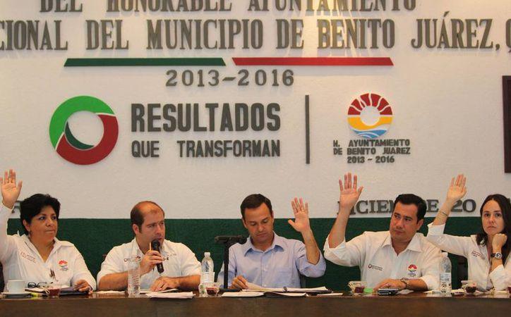 Sesión de Cabildo de la actual administración municipal. (Tomás Álvarez/SIPSE)