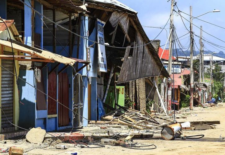 El 25 de abril de 2016, Ecuador fue sacudido por un intenso terremoto que estuvo a punto de hacer desaparecer poblaciines enteras, como Canoa. (EFE/Archivo)