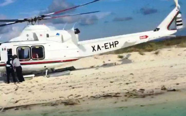 En el helicóptero viajaban funcionarios federales y empresarios. (Milenio Novedades)