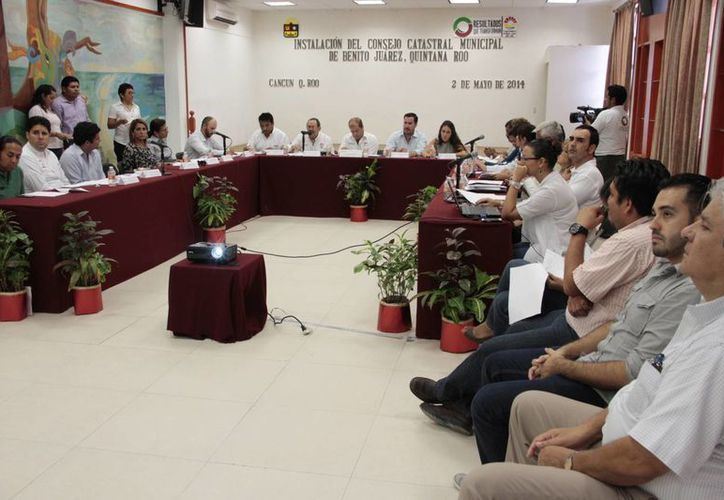 Instalación del Consejo Catastral de Benito Juárez. (Tomás Álvarez/SIPSE)