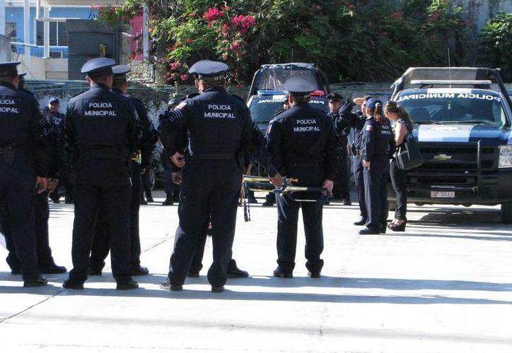 No es la primera vez que el Ayuntamiento carrilloportense incumple el pago de los sueldos del cuerpo policíaco. (Manuel Salazar/SIPSE)
