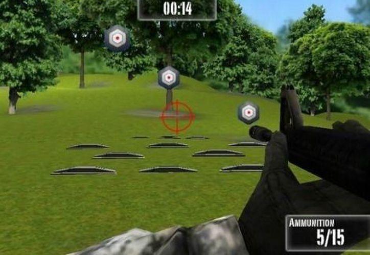 La aplicación tiene 3 posibles escenarios y 9 armas a elegir. (Milenio)