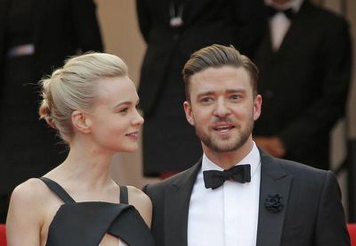 La actriz británica Carey Mulligan (izq) y el actor estadounidense Justin Timberlake (der). (EFE)