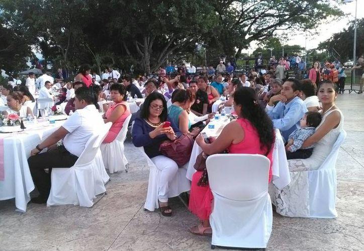 El evento se realizó en la explanada del Palacio Municipal. (Pedro Olive/SIPSE)