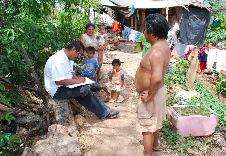 Las autoridades en general desconocen cifras reales de asentamiento irregulares y familias que los habitan. (Tomás Álvarez/SIPSE)