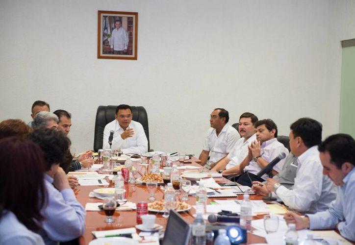 Aspecto de la reunión del sector educativo. (Cortesía)