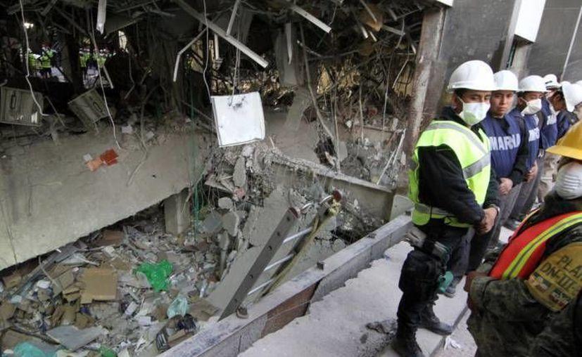 Foto de archivo de la Torre B2 de Pemex en el DF, donde en enero fallecieron más de 33 personas debido a un estallido. (Notimex)