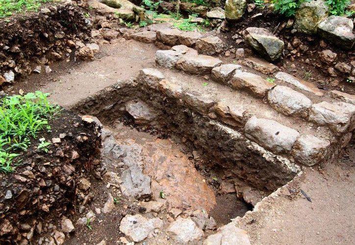 Cimientos de una de las habitaciones encontradas en el suburbio de la antigua T'hó, sobre cuyas ruinas se construyó la actual ciudad de Mérida. (SIPSE)