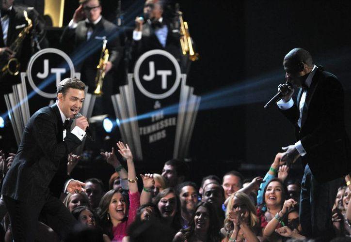 Justin Timberlake durante su actuación en los pasados Grammy. (Agencias)