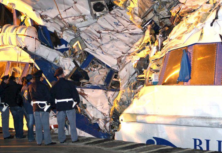 El choque pudo ocurrir debido a las malas condiciones del clima en la zona italiana de Ravenna. (EFE)