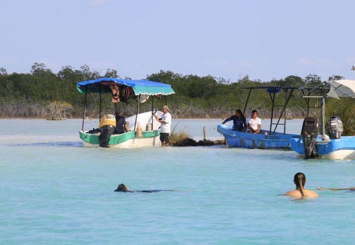 El mercado yucateco representa entre el 8 y 12% de turistas que llegan a Bacalar. (Foto: Javier Ortiz)
