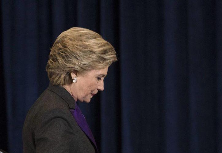 Tras su derrota, Hillary Clinton dio una conferencia de prensa en Nueva York. (AP/Matt Rourke)