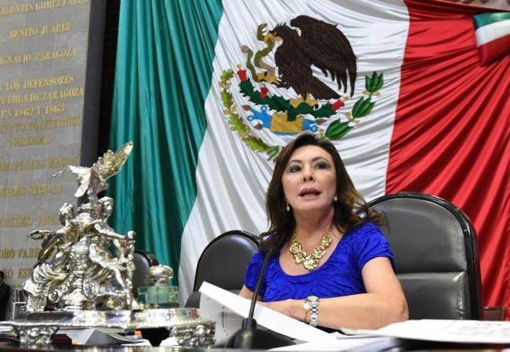 La diputada Beatriz Zavala funge como vicepresidenta de la Cámara de Diputados. (SIPSE)