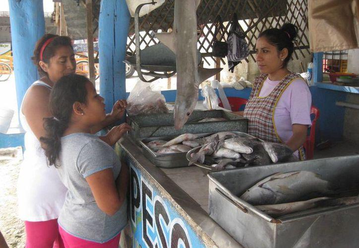 El costo del kilogramo de los pescados varían. (Javier Ortiz/SIPSE)