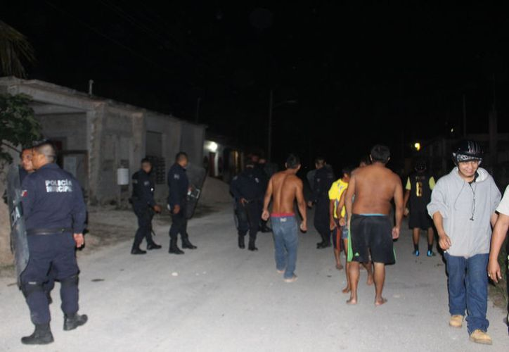 El domingo pasado, la policía municipal acudió a la zona por un supuesto reporte de robo. (Jesús Caamal/SIPSE)