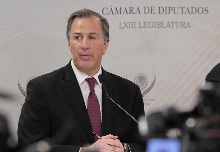 José Antonio Meade dijo que buscan corregir el proceso que de 2008 a la fecha ha endeudado al país para pagar intereses. (Archivo/Notimex)