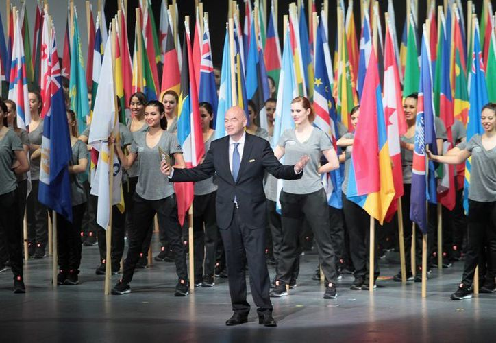 Gianni Infantino, presidente de la FIFA en la inauguración del Congreso, este jueves. (Notimex)