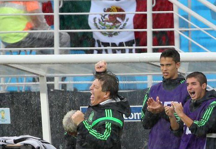 El entrenador del Tri, Miguel Herrera, ya tiene casi medio millón de seguidores en Twitter. (Notimex)
