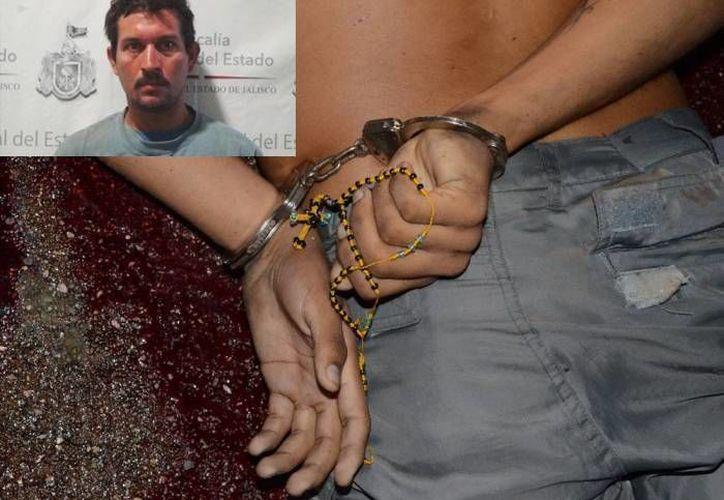 La fiscalía de Jalisco detuvo a Fernando Alanís Sánchez (recuadro) quien habría realizado diferente secuestros y asesinatos en varios estados de la república. (Imágen del Twitter: @FiscaliaJal  y de archivo)